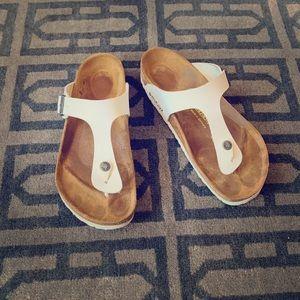 Birkenstock Gizeh White Thong Sandal Size 41